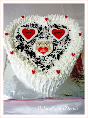 tartas de crema san valentin