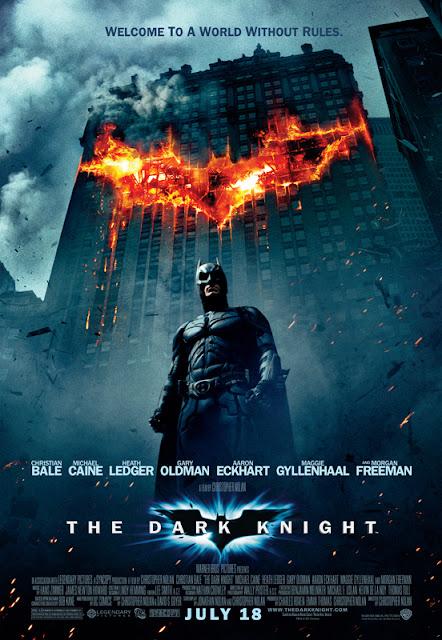 The Dark Knight. 2008. Christian Bale as Batman. Heath Ledger as Joker