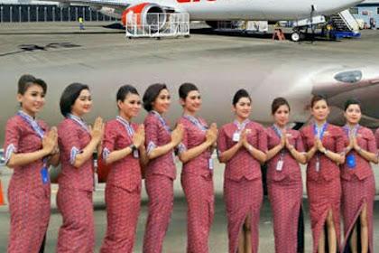 Seleksi Penerimaan Pramugari Lulusan Min SMA Lion Air Group (Batik Air, Lion Air dan Wings Air).