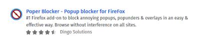 Add-Ons Extensions - Poper Blocker for Mozilla Firefox
