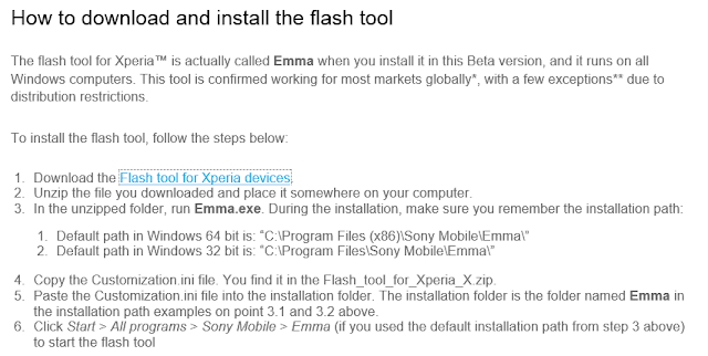 How to download and install Sony Xperia Mobie flash tool with out box