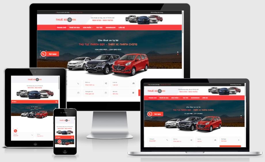 Theme blogspot dịch vụ cho thuê xe, đẹp chuẩn SEO VSM52 - Ảnh 1