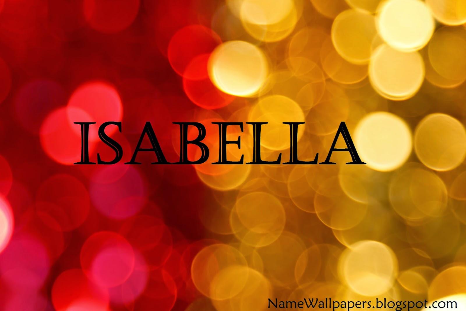 Isabella Name Wallpapers Isabella ~ Name Wallpaper Urdu ...