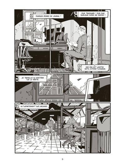 """page de """"1984"""" de Jean-Christophe Darrien et Rémi Terragrossa d'après George Orwell chez Delcourt"""