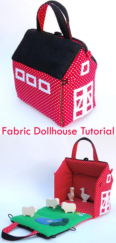 Fabric Dollhouse Bag Tutorial + Pattern