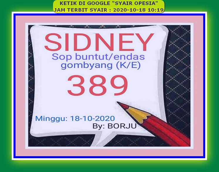 Kode syair Sydney Minggu 18 Oktober 2020 71