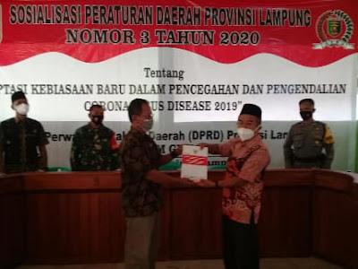 Ketua DPRD Lampung Beri Pemahaman Hadapi Pandemi Covid-19
