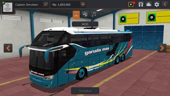 Livery SR2 XHD Scania K410 Garuda Mas
