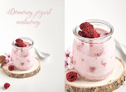 Domowy jogurt malinowy- 3 składniki