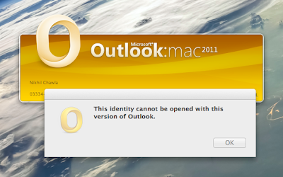 Outlook 2016 for mac identity location