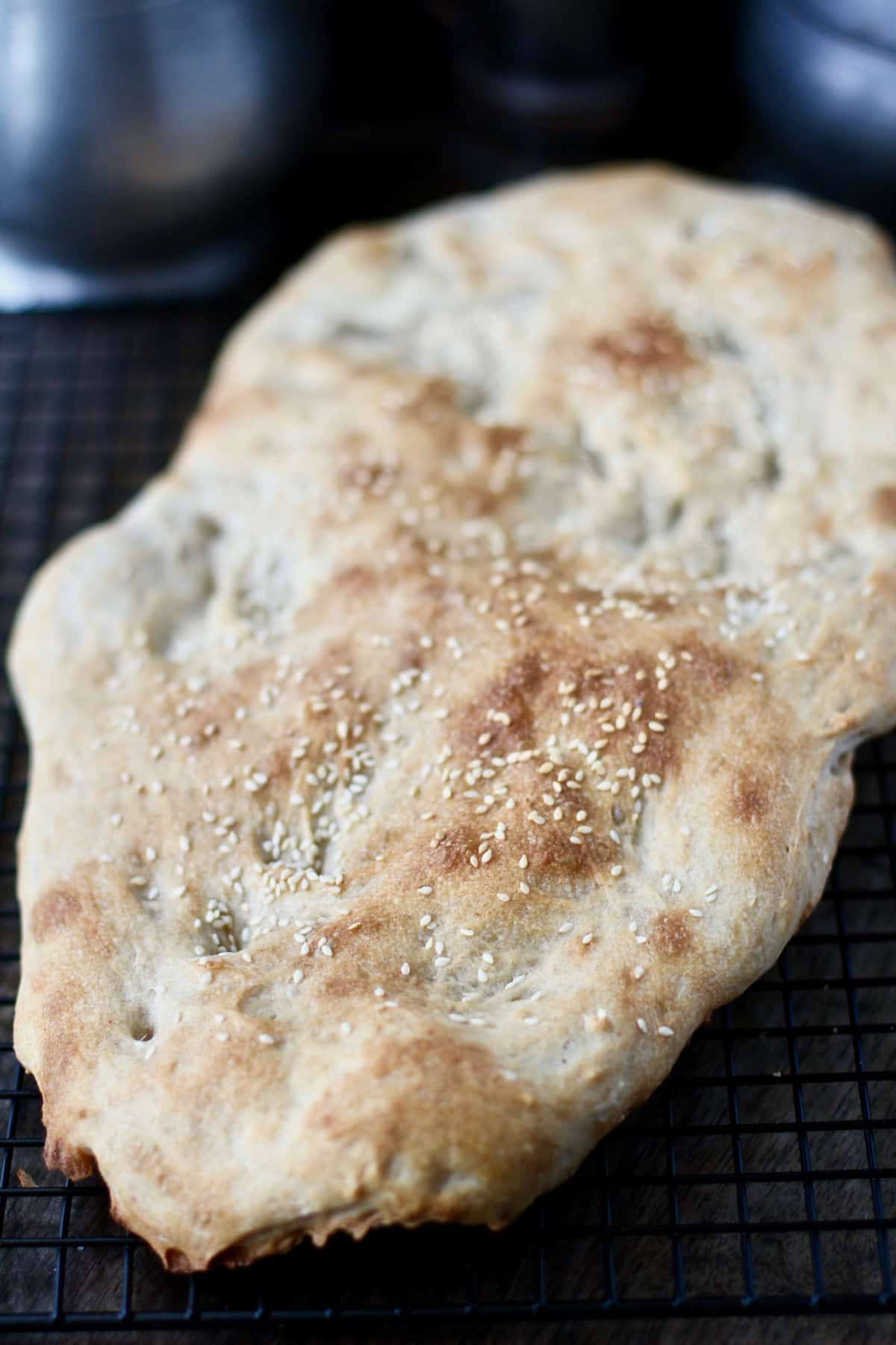 Naan Sangak whole flatbread.
