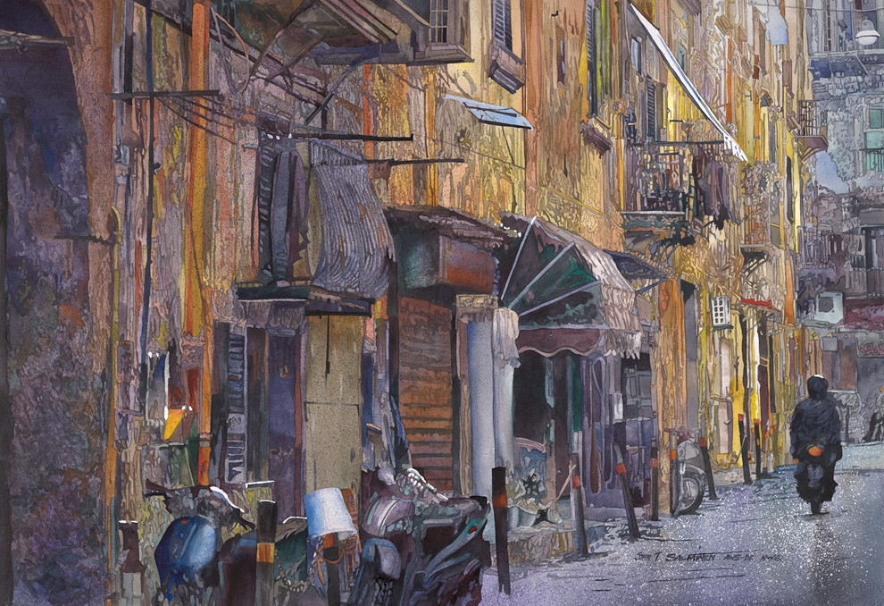 18-Spanish-Quarter-John-Salminen-Watercolor-Paintings-Taking-Glimpses-into-our-Life-www-designstack-co
