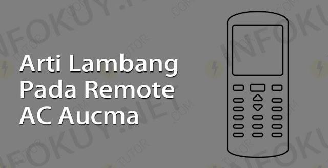arti lambang pada remote ac aucma