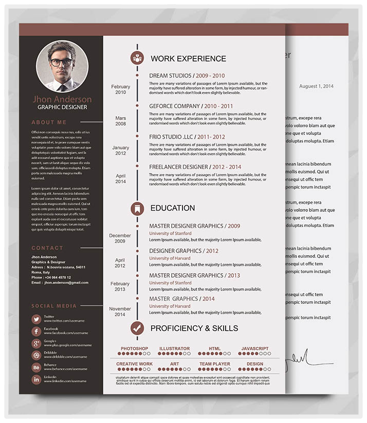 creative resume templates free microsoft word free downloadable
