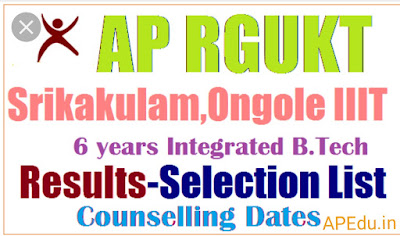 RGUKT IIIT Selection List 2019-20 for Phase 1and Call Letter of Nuzvid ,RK Valley-Idupulapaya, Ongole, Srikakulam