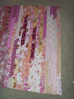 Jelly Roll Race Quilt by fabricandflowers | Sonia Spence