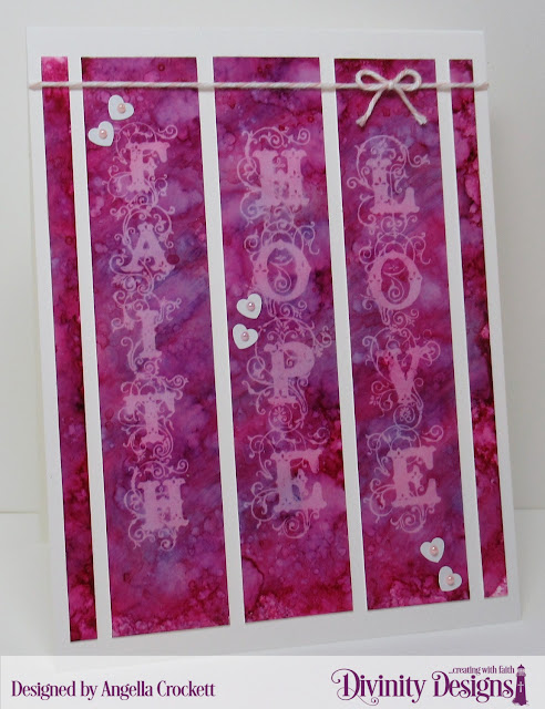 Divinity Designs 'Bookmarks-Faith,Hope,Love', Card Designer Angie Crockett