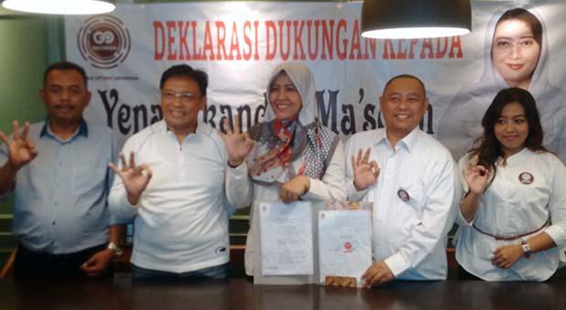Go Indonesia Deklarasikan Dukung Yena Masoem Maju di Pilbup Bandung