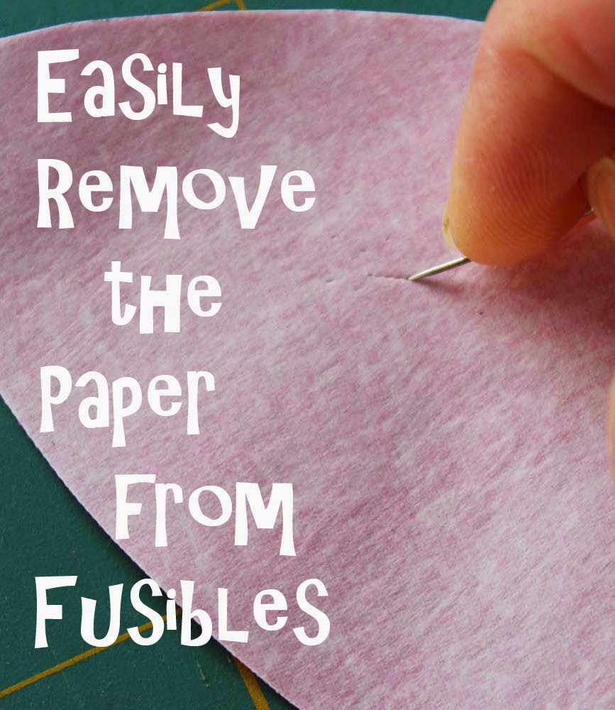 easily remove paper from fusible web