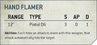 pistola lanzallamas 9a edición 40k