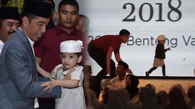 Kubu Prabowo Sebut Jokowi Manfaatkan Cucunya, Jan Ethes untuk Kampanye