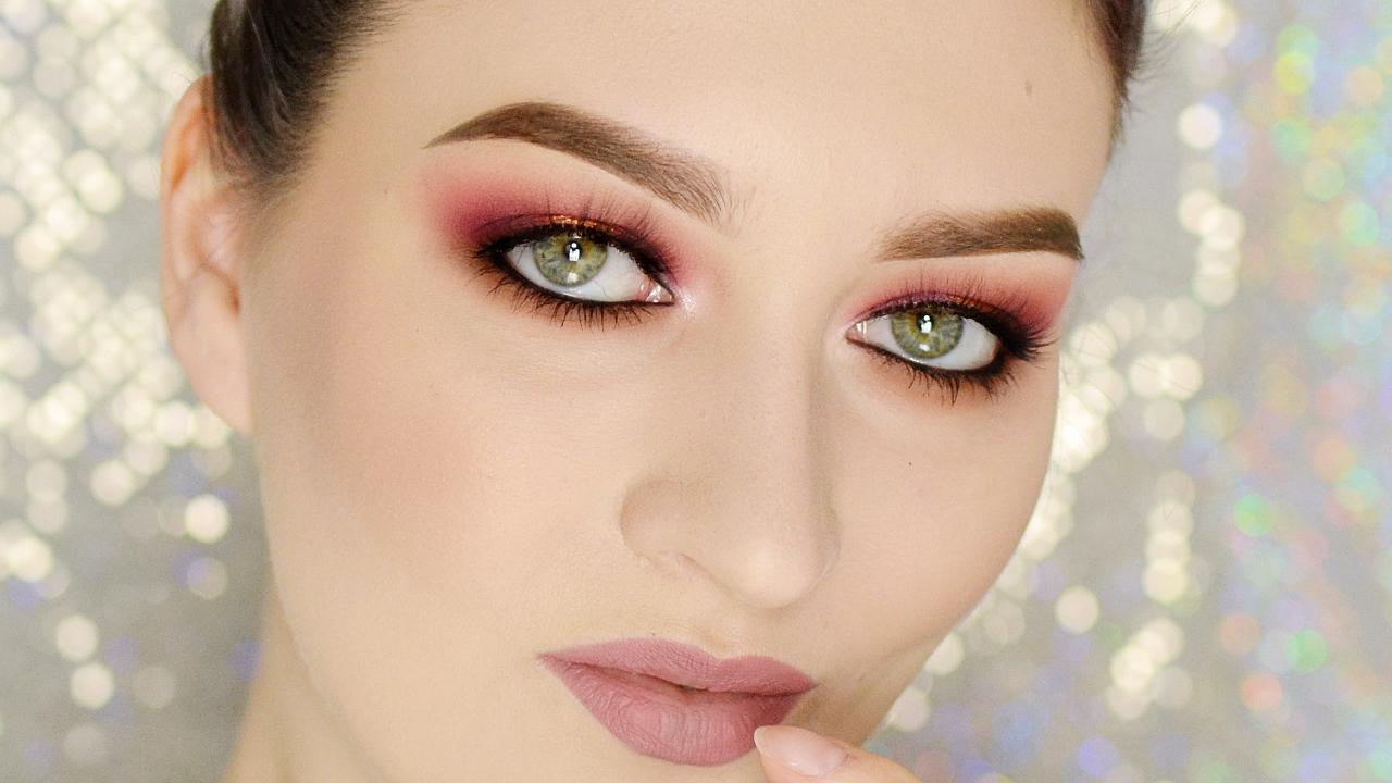 makijaż wieczorowy ciepłe tony tutorial