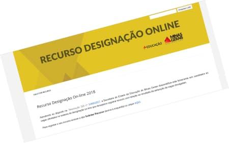 Recurso Designação On-line 2018