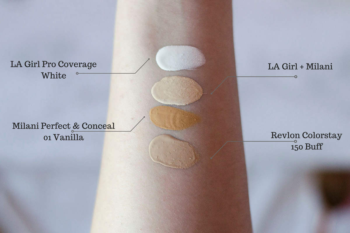 La Girl Pro Coverage Foundation Swatches