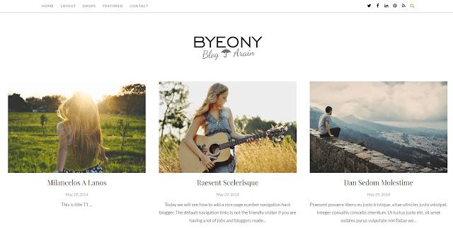 Byeony Blogger Template
