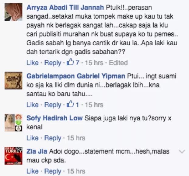 Bukti Orang Sabah Bengang Dengan Kenyataan Liyana Jasmay