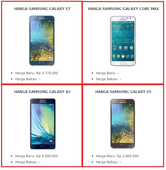 Daftar Harga Hp Samsung Terbaru News Ponsel