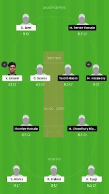 BD-U19 vs IN-U19 Dream11 team prediction