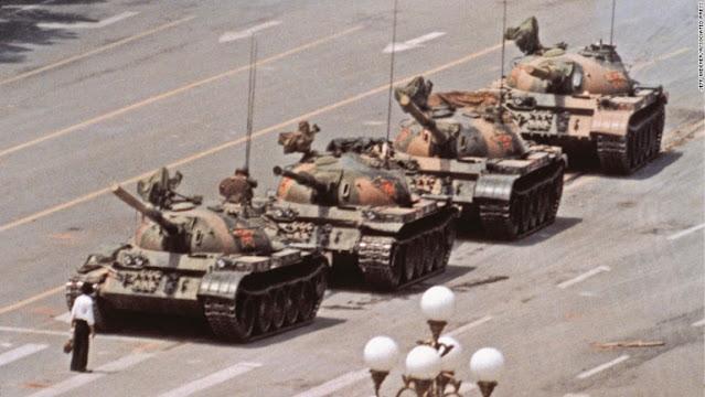 Tanque en Tiananmen de Jeff Widener