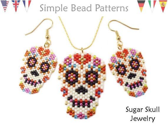 Day of the Dead peyote beading tutorial