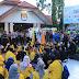 Polisi Amankan Penyampaian Aksi BEM se Kalsel Di KPU Provinsi