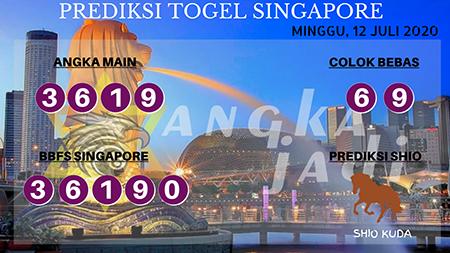 Prediksi Togel Angka Jadi Singapura SGP Minggu 12 Juli 2020