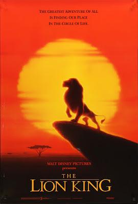 Cartel en inglés de la película El Rey León The lion King