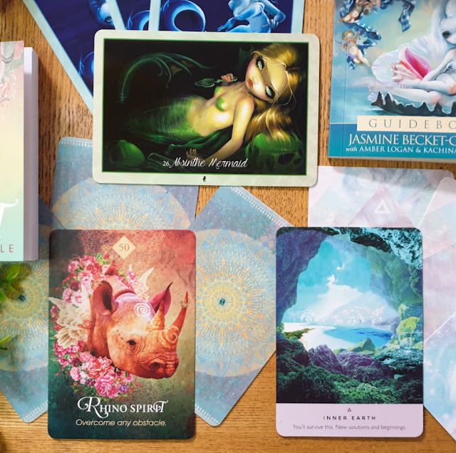 Oracle cards - The Spirit Animal Oracle, Myths and Mermaids Oracle of the Water and The Starseed Oracle