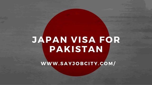 Japan Visa For Pakistan