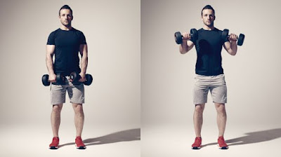 Off-set Grip Dumbbell Curl