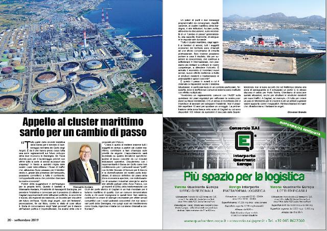 SETTEMBRE 2019 PAG. 20 - Appello al cluster marittimo sardo per un cambio di passo