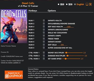 Trainer untuk Cheat game Dead Cells