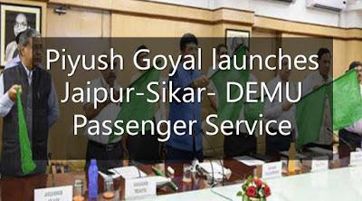 Minister Piyush Goyal launches Jaipur-Sikar DEMU Passenger Service
