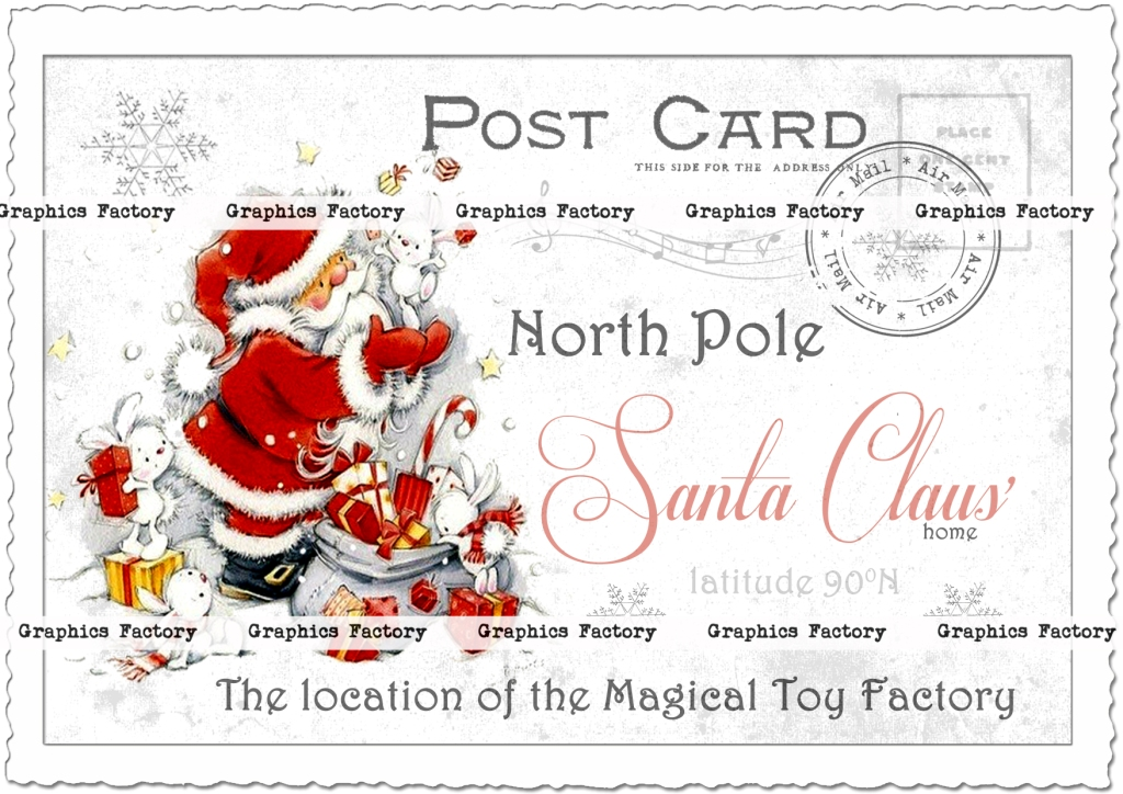 Welcome to Fabulous North Pole Postcard | Zazzle |North Pole Postcards