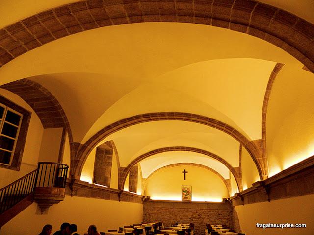 Refeitório medieval da Hospedaria San Martín Pinário, em Santiago de Compostela