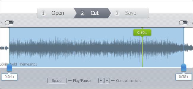 Selezione file audio che si desidera utilizzare come suoneria iphone