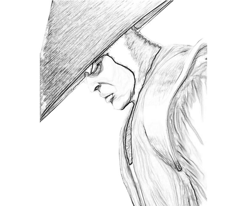 Raiden From Mortalkombat Free Coloring Pages