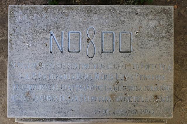 Detalle grabado conmemorativo