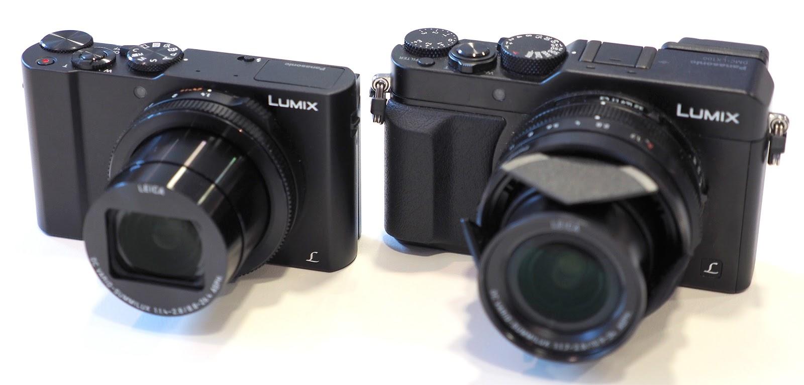 Габариты LX15 в сравнении с LX100