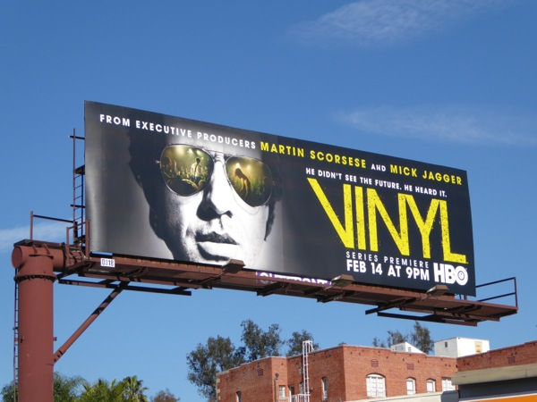 Vinyl HBO series billboard